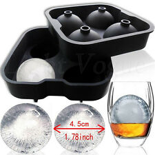 Silicon Ice Cube Ball Maker Mold Sphere Mould Brick Party Tray Round Bar Hot 34