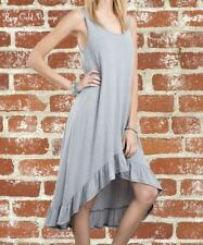 NWT Boutique Easel Ruffle Tank Dress - Gray - Small, Medium & Large