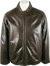 UNICORN Mens Classic Coat - Real Leather Jacket - Antique Brown #5V