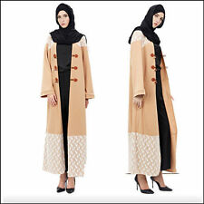 Dubai Style Long dress Muslim Open Front Abaya Islamic Jilbab Muslim Maxi Dress