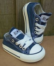 BABY BOYS OR GIRLS NAVY BLUE CONVERSE ALL STAR TRAINERS INFANTS SIZE UK 2