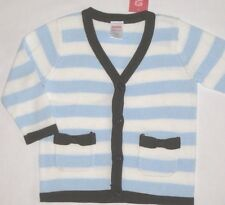 Gymboree Girls Best Friend Sweater 12-18 2T 3T New Stripe Cardigan Blue Brown