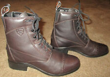 Wmns ARIAT Heritage III Lace Brown Leather Paddock Ankle Boots sz 6 B