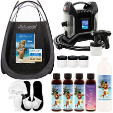 ULTRA PRO Sunless Airbrush HVLP SPRAY TANNING SYSTEM Simple Tan 8% Solution TENT