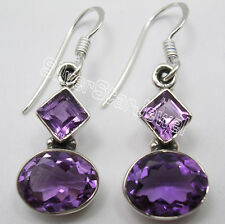 925 Solid Silver Amethyst, Zircon, Garnet & Other Stones Variation ART Earrings