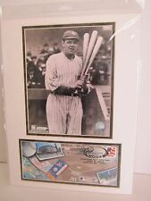2003 NY YANKEE OPENING DAY 12 X 16 MATTED USPS EVENT COVER & BABE RUTH PHOTO NOS