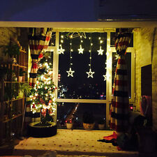 LED Star Curtain Light Christmas String Light Curtain Lights Waterproof Party