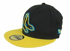 New Era 59Fifty MLB Boston Red Sox Black Cyber Yellow Fitted Hat Cap NWT