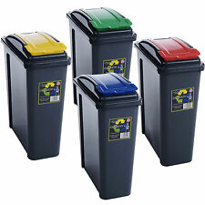 25L PLASTIC RECYCLE RECYCLING BIN KITCHEN HOME DUSTBIN GARDEN WASTE RUBBISH NEW