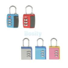 TSA Padlock 3 Digits Combination Lock Suitcase Luggage Bag Code Lock , 2 Designs
