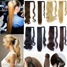 New Wrap Around Clip In On Ponytail Hair Extensions Pony Tail Natural Hair Piece