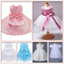 Lace Flower Baby Girls Wedding Bridesmaid Pageant Party Christening Tutu Dresses