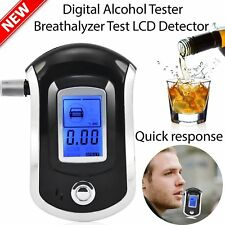 Pro Police Digital Alcohol Breath Tester Analyzer Detector Breathalyser Test HT