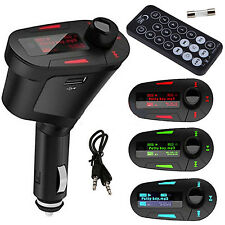 Car Kit MP3 Player Wireless FM Transmitter Modulator LCD USB SD MMC Remote HT