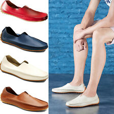 Mens Casual PU Leather Slip On Walking Boat Moccasin Loafer Driving Shoes Size