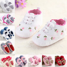 HOT Infant Toddler Baby Girls Kid Soft Sole Shoes Sneaker Newborn 0-18 Months AU