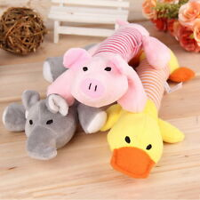 Pet Toy Puppy Chew Squeaker Squeaky Plush Sound Pig Elephant Duck For Dog Toys~M
