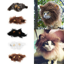 Fancy Pet Hat Costume Cute Lion Mane Cat Wig Halloween Dress Up With Ears New EH