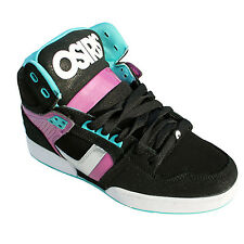 OSIRIS WOMENS NYC 83 SLIM SHOES Hi Tops Skate Lifestyle BLACK/PURPLE/SEA