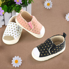Cute Baby Girl Boy Soft Soled PU Leather Shoes Infant Toddler Moccasin 0-18Month
