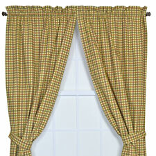 August Grove Gwyn Tailored Plaid and Check Semi-Sheer Rod Pocket Curtain Panels