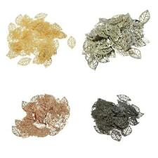 100pcs Silver Gold Alloy Leaf Pendants Charms Jewellery Making Finding 20 x 13mm