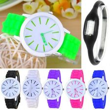 Best Gift Classic Quartz Ladies/Womens/Girls Jelly Silicone Wrist Watch WST