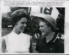 1959 Press Photo Carol Sorenson, Sharon Fladoos Western Golf Assn Jr tournament