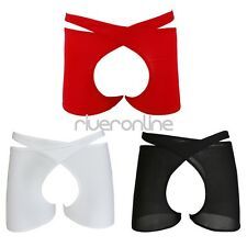Sexy Mens See-through Crotchless Open Butt Crotch Shorts Boxer Briefs Underwear