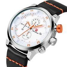Mens Chronograph Watch Sport Military Quartz Date Army Silicone Waterproof Gift