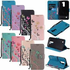 Flip Leather Wallet Cards Holder Strap Stand Phone Case Cover For LG Cell Models