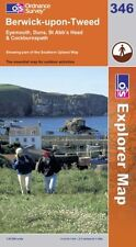 Ordnance Survey Explorer Map 346 Berwick-u..., Ordnance Survey Sheet map, folded