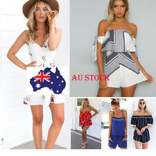 AU Stock Womens Jumpsuit Romper Summer Sun Dress Playsuit Off Shoulder 12 Styles