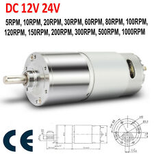 DC24V 12V 10-1000RPM Micro Gear Box Motor Speed Reduction Eccentric Output Shaft