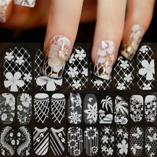Lace Nail Art Manicure SELF ADHESIVE 3D Tips Stickers Decoration TRANSFERS U87