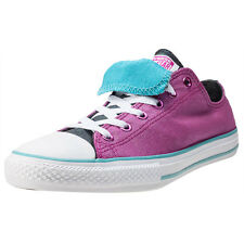 Converse Ctas Double Tongue Ox Kids Trainers Magenta Branded Footwear