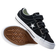 Converse One Star 3v Ox Toddler Trainers Black White Branded Footwear