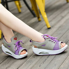 Women's Sneakers Striped Sport Trainers Shoes Ladies Lace Up Casual Running