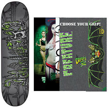 """CREATURE Skateboard Deck CATACOMBS LG 8.1"""" with MOB Griptape"""