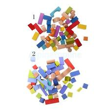 50 Pieces Wooden Colourful Building Blocks Educational Toys Construction