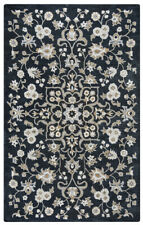 Rizzy Rugs Black Vines Petals Leaves Buds Contemporary Area Rug Floral VN9534