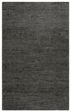 Rizzy Rugs Black Solid Hand-Loomed Jute Contemporary Area Rug Geometric EG9038