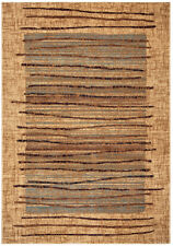 Rizzy Rugs Beige Bordered Lines Stripes Contemporary Area Rug Abstract BV3193