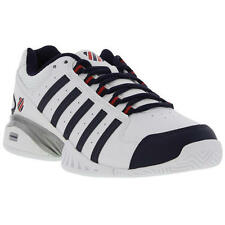 K-Swiss Receiver III Omni Mens White Leather Tennins Trainers Size 7-14