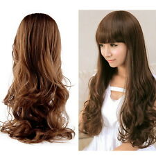 New Fashion Lovely Women Girl Wig Long Wavy Curly Hair Cosplay Party Wigs HT