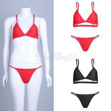 Womens Swimwear Bandage Padded Bra Swimsuit Push-up Bikini Set Bathing Beachwear