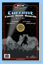 BCW: Comic Book Acid-Free Backing Boards: CURRENT Size:  100ct *Ships FREE in US