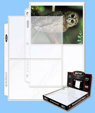 BCW: 3-Ring Polypro Pages: 2-POCKET-Cards:1000ct:10 boxes (100 per box) CASE-LOT