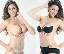 2 Pieces Silicone Adhesive Push Up Invisible Stick on Strap Shaper Bra A-C cup