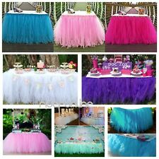 Tulle Table Skirt Princess Wedding Party Baby Shower Birthday Table Tutu Cover